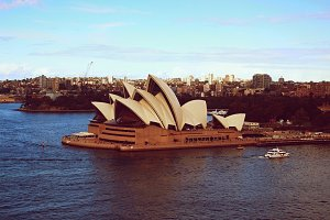 Sydney Opera in Sunset