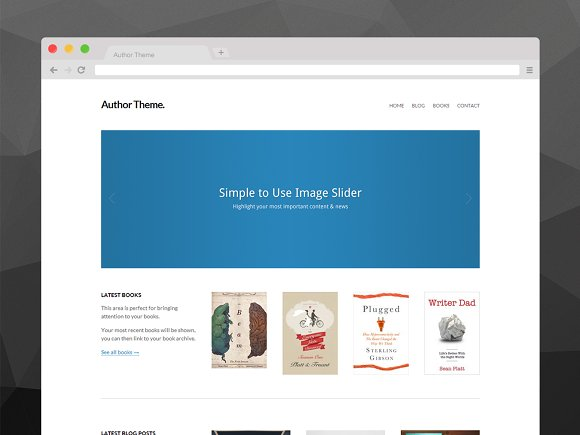 author theme for wordpress wordpress minimal themes creative market