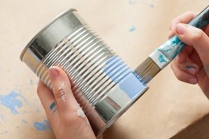 Painting a tin can
