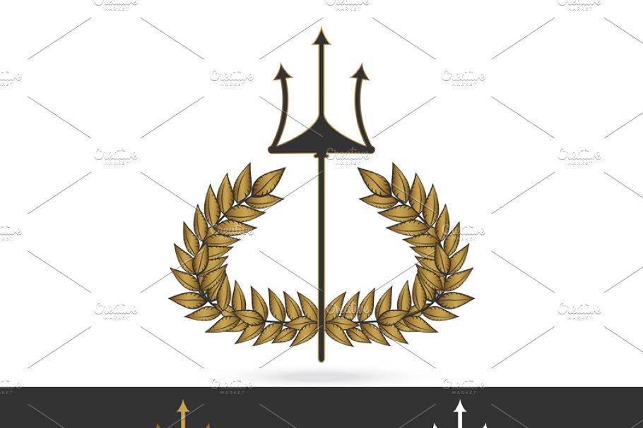 thunder symbol of greek god zeus | Creative Logo Templates ...