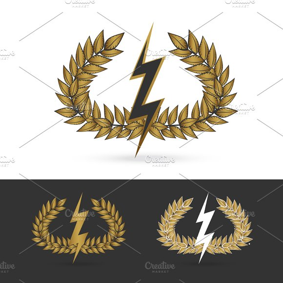 thunder symbol of greek god zeus ~ Logo Templates ...