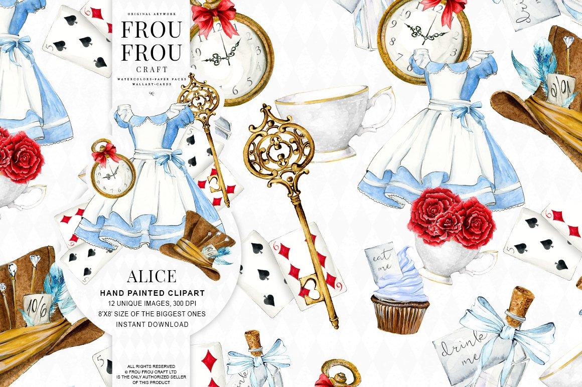 Alice in Wonderland Clipart ~ Illustrations ~ Creative Market
