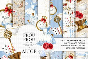 Alice in Wonderland Paper Pack
