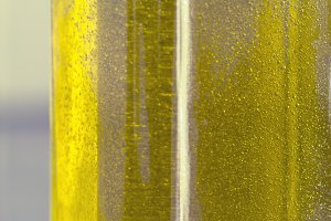 Olive oil in close up
