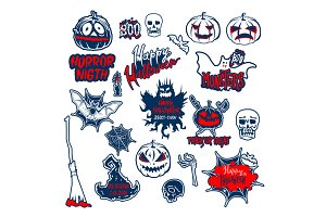 set Halloween vector icon