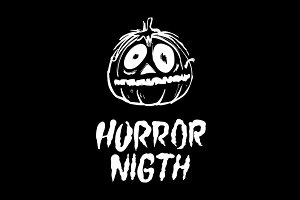 horror night vector pumpkin