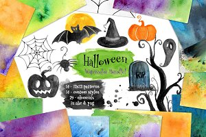 Halloween Watercolor Bundle!