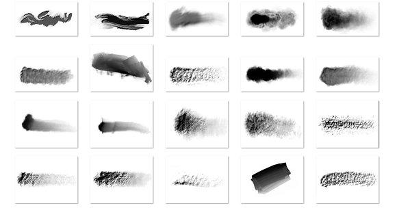 Basic Brush Set No. 1 - Textures