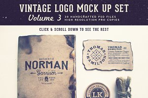 Vintage Logo Mock Up Set Volume 3
