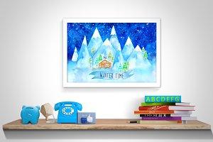Winter Time Printable Wall Art