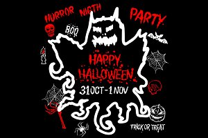 Happy Halloween Party Design vector