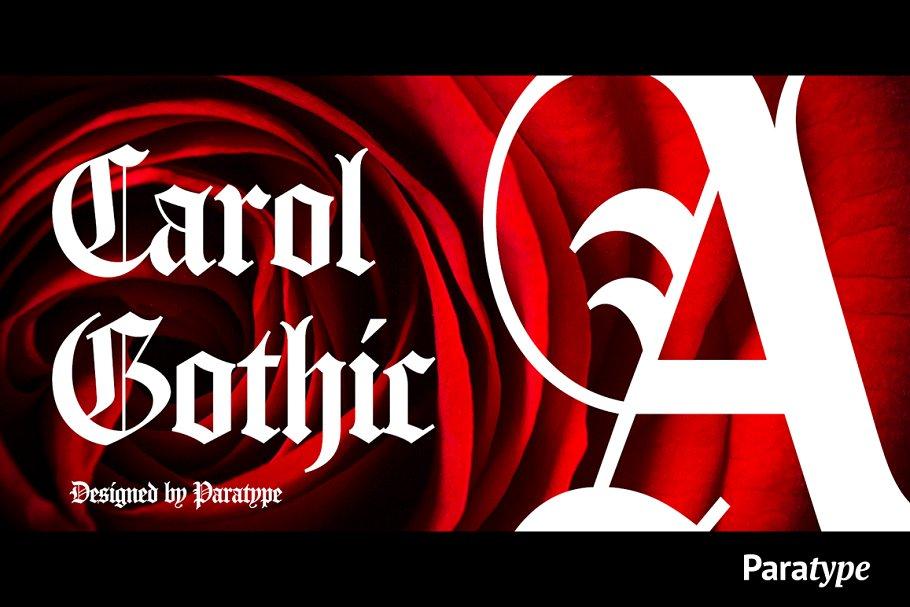 Carol Gothic ~ Blackletter Fonts ~ Creative Market