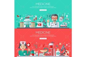 Medicine banners