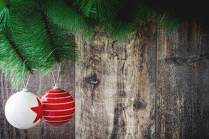 Christmas tree and Christmas balls