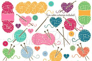 Knitting & Crochet Clipart & Vectors