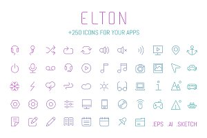 Elton, +250 icons for your apps