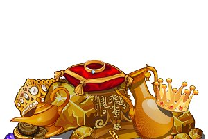 Royal gold treasure, precious relics