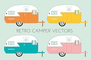 Retro Camper Vectors