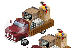Truck for transportation animals