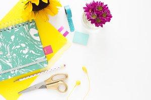 Colourful desk