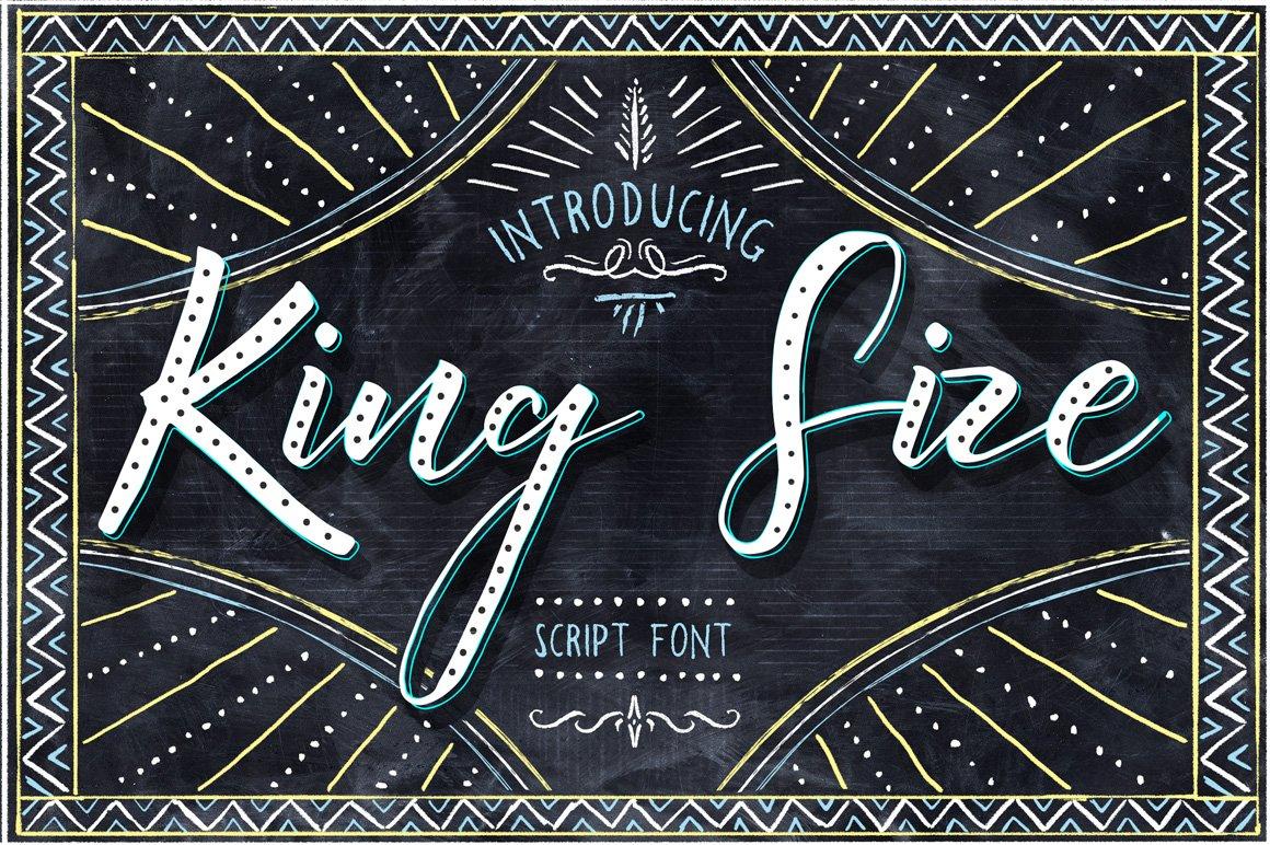 King size font script fonts creative market