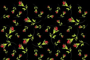 Pattern of red roses