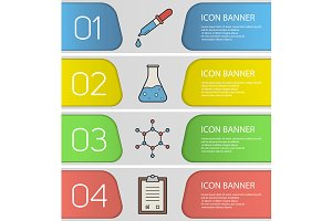 Laboratory banner templates. Vector