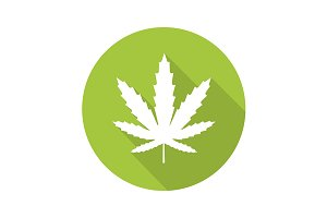 Marijuana leaf icon. Vector
