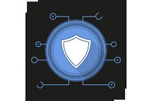 Cyber security icon. Vector