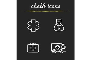 Medical. 4 icons set. Vector