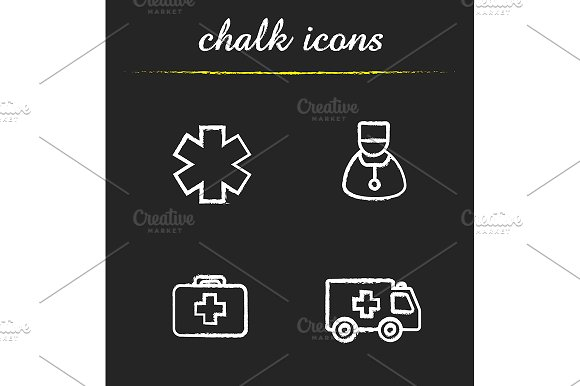 Medical. 4 icons set. Vector - Icons