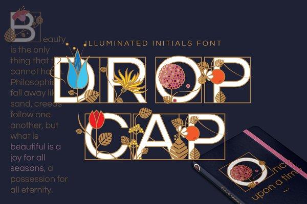 Symbol Fonts: Polar Vectors - Drop Cap illuminated initials