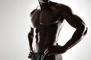African man with muscular body