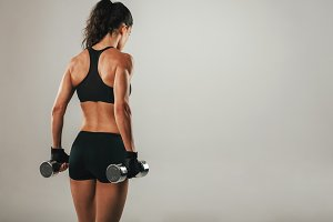 Back of athletic woman
