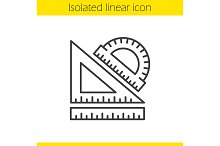 School rulers linear icon. Vector