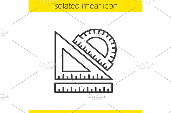 School rulers linear icon. Vector - Icons