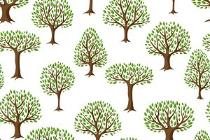 Patterns with stylized trees