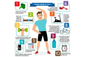 Healthy lifestyle for man
