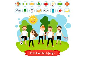 Sport children summer activity