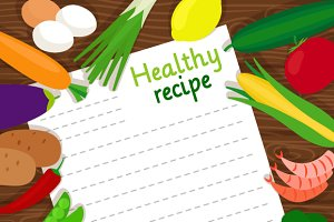 Healthy food cooking recipe