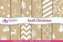 Kraft Christmas Digital Paper