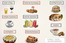 Menu food vector graphics