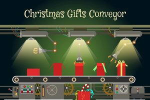 Christmas gift wrapping conveyor