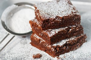Brownie. Chocolate cakes