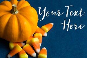 Halloween Pumpkin Navy Blue Mock up