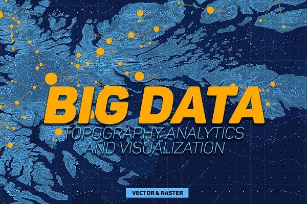 Big Data Maps Backgrounds