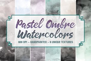 Pastel Ombre Watercolor Backgrounds