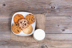 Fresh cookies and milk