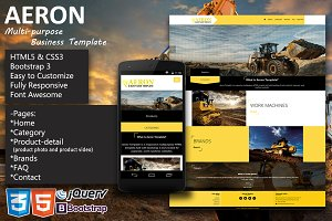 Aeron Multipurpose Business Template