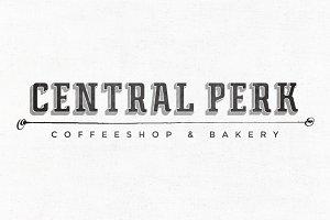 Central Perk Premade Logo Template